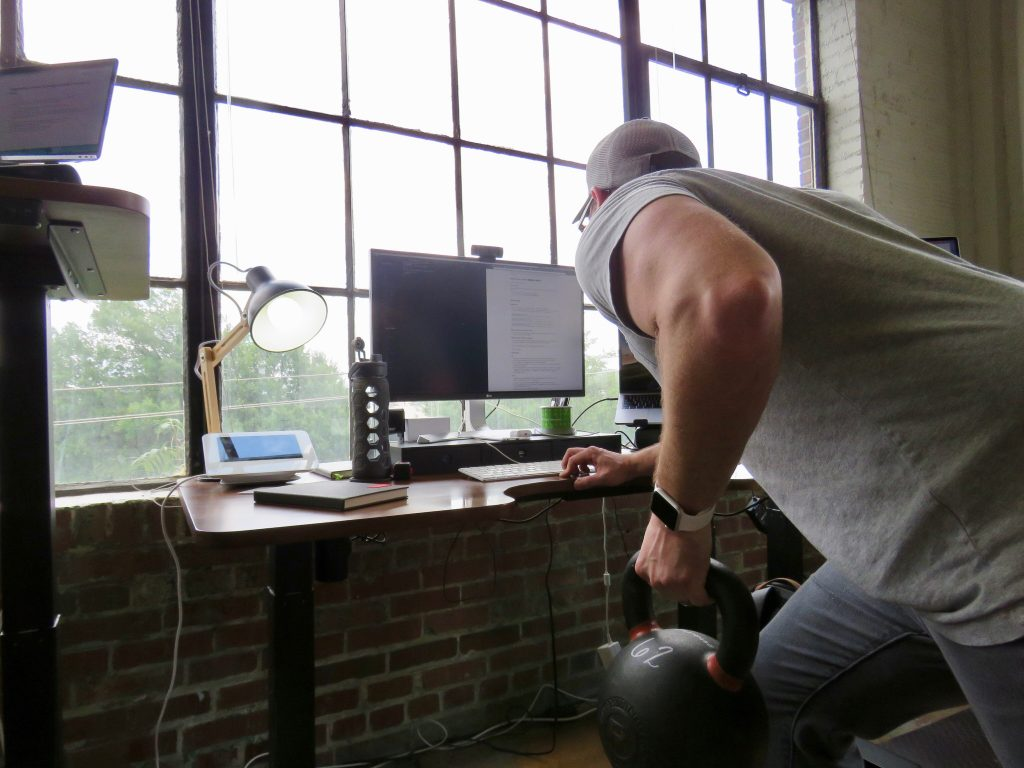 Airship CEO/Co-founder Trent Kocurek and the crew get their fitness on during Iron Tribe-themed photo shoot.