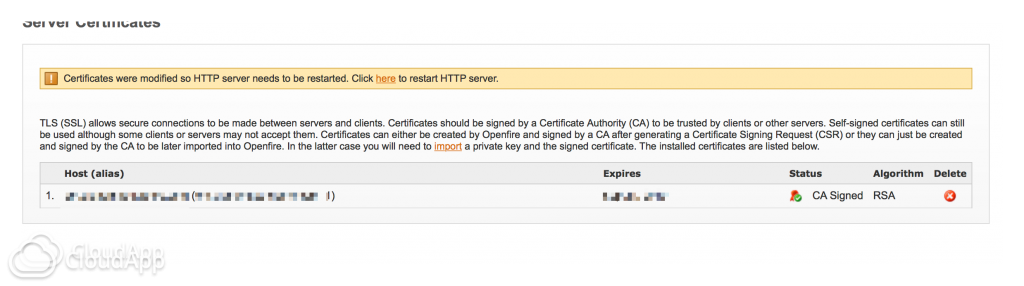 How to Import a GoDaddy SSL Certificate to an Openfire XMPP Server