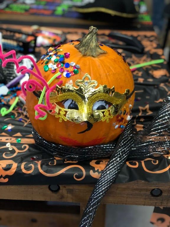 Winner of Fanciest Pumpkin Category