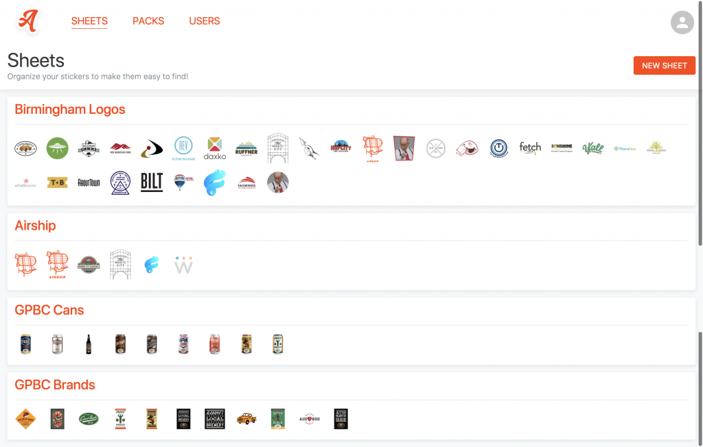 Use Sheets within Adhesives to organize your iMessage Stickers