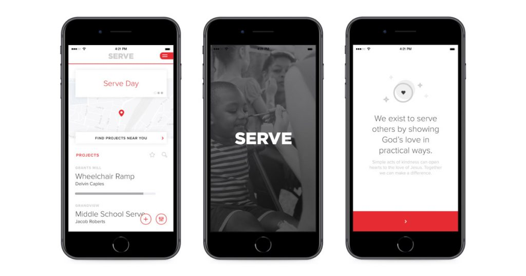 Serve Day App for iOS and Android - Built by Airship for the Church of the Highlands